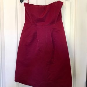 Strapless dress with pockets - size 8